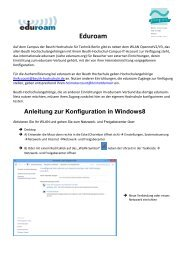 Windows8 - Beuth Hochschule für Technik Berlin