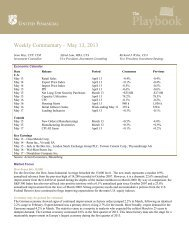 Weekly Commentary – May 13, 2013