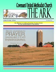 November 2012 Ark - Covenant United Methodist Church