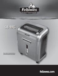 SB-89Ci Manual-2010 - Machine Change - Fellowes
