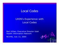 Local Codes