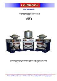 Vorderkappen Presse VKP 2 - Leibrock Im