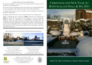 CHRISTMAS AND NEW YEAR AT BODYSGALLEN HALL & SPA 2011