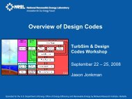 Overview of Design Codes - NREL