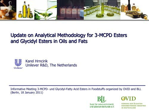 Update on Analytical Methodology for 3-MCPD Esters - OVID
