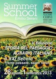 STORIA DEL PAESAGGIO AGRARIO ITALIANO Il XXI Secolo