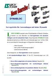 DYNABLOC Servogetriebe für Anwendungen mit ... - Leroy Somer