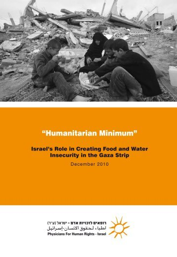 """""""Humanitarian Minimum"""": Israel's Role in Creating Food and Water ..."""