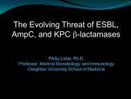 The Evolving Threat of ESBL, AmpC, and KPC -lactamases - SWACM