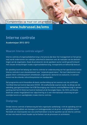 Interne controle - HUBRUSSEL.net