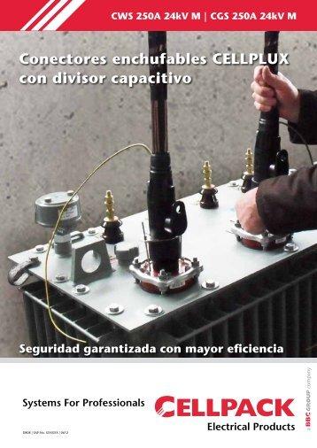 Conectores enchufables CELLPLUX con divisor capacitivo