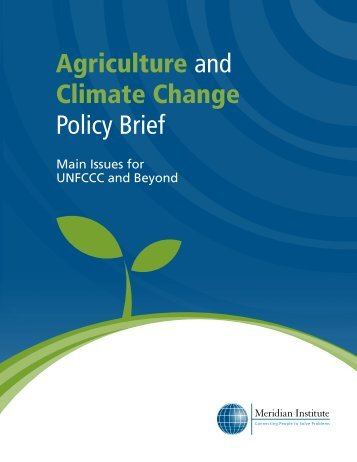 Agriculture and Climate Change Policy Brief - CDKN Global