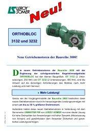 ORTHOBLOC 3132 und 3232 Neue Getriebemotoren ... - Leroy Somer