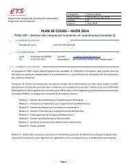 PLAN DE COURS – HIVER 2013 - Cours par sigle