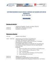 Programm Massa-Carrara - Naturstein