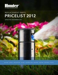 PRICELIST 2012 - Hunter Industries