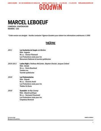 MARCEL LEBOEUF - Agence Goodwin