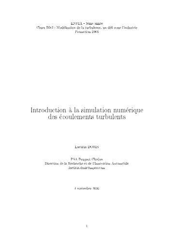 Introduction à la simulation numérique des ... - wwwdfr - Ensta