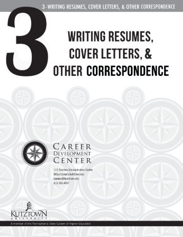 The following pages are samples of resumes. - Career Development ...