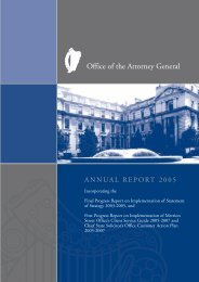 PDF format - Annual Report 2005 - Office of the Attorney General