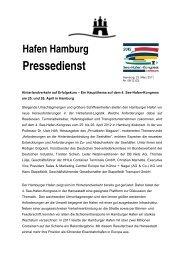 Hafen Hamburg Pressedienst