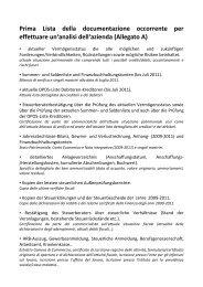 Allegato A – Prima Lista della documentazione occorrente per ...