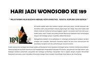 HARI JADI WONOSOBO KE 189