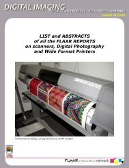 LIST and ABSTRACTS of all the FLAAR REPORTS on scanners ...