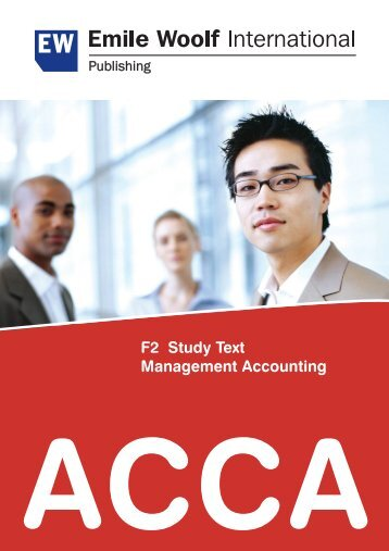 ACCA F2 Study Text Management Accounting