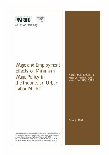 employment and national minimum wage The report considers the effects of the uk national minimum wage on different labour market sub-groups since 1999 the findings suggest that increases in the national minimum wage had no negative employment effects on the overall uk labour market.