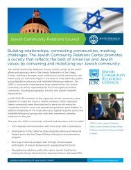 Jewish Community Relations Council Building relationships ...