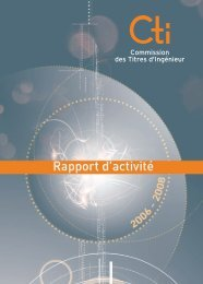 Rapport d'activité 2006-2008 - Commission des Titres d'Ingénieur