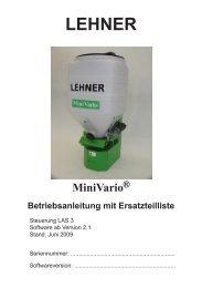 3 MiniVario® bedienen - Lehner Agrar GmbH