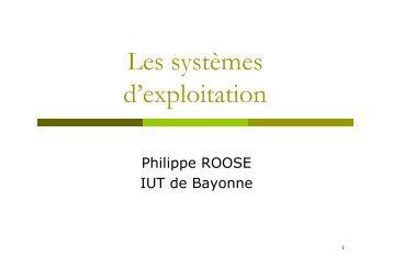 Rappels sur les systèmes d'exploitation - IUT Bayonne