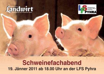 Programm des Schweinefachabends - Landwirt.com