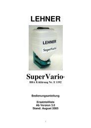 SuperVario Las1 Betriebsanleitung bis Bj 2006 - Lehner Agrar GmbH