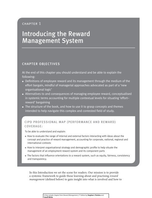 Introducing the Reward Management System - CIPD