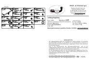 Anhängekupplung Katalog nr G59 = D [kN] PPUH AUTO-HAK Sp.J.