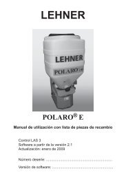 3 Uso de POLARO - Lehner Agrar GmbH