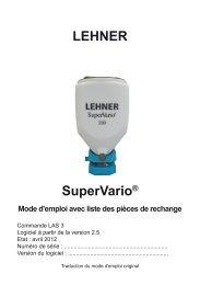 Tableau d'épandage - Lehner Agrar GmbH