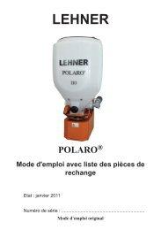 3 Fonctionnement du POLARO - Lehner Agrar GmbH