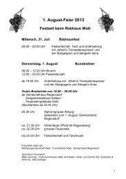 1. August-Feier 2013 - Turnverein Watt