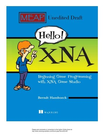 1 Getting started with XNA - Manning Publications