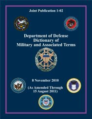 Joint Publication 1-02 DoD Dictionary of Military ... - AcqNotes.com
