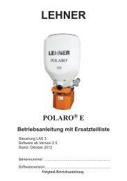 3 POLARO® E bedienen - Lehner Agrar GmbH