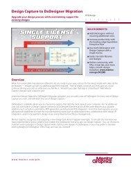 Design Capture to DxDesigner Migration - Mentor Graphics PCB Tools