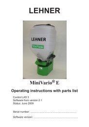 3 Operating the MiniVario - Lehner Agrar GmbH