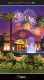 JULY 2013 ACTIVITIES GUIDE - Fairmont Scottsdale