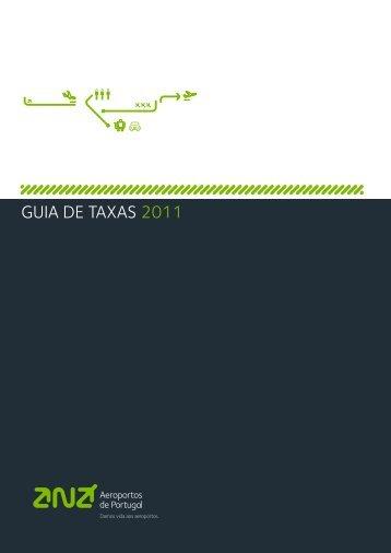 GUIA DE TAXAS 2011 - ANA Aeroportos de Portugal