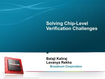 Solving Chip-Level Verification Challenges - Test and Verification ...